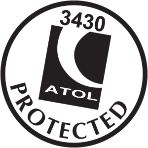 Black and white round ATOL Protected logo